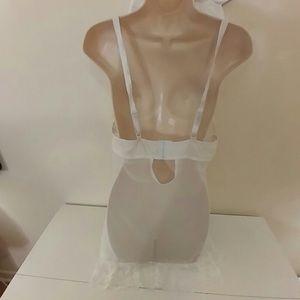Vintage Intimates & Sleepwear - White lace bridal chemise